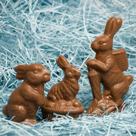 Solid Chocolate Easter Bunnies
