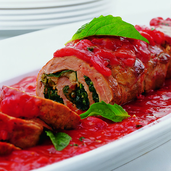 Veal Rolls Stuffed With Spinach And Gruyere Recipe — Dishmaps