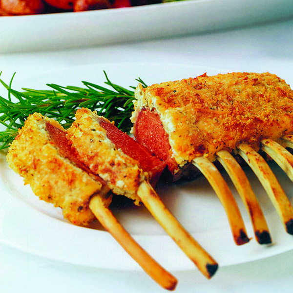 Rack of Lamb with Goat Cheese Crust