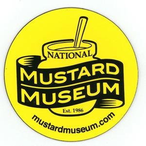 Mustard Museum Logo Round Magnet - 2 Diameter