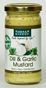 Norman Bishop Dill & Garlic Mustard (7 Oz)