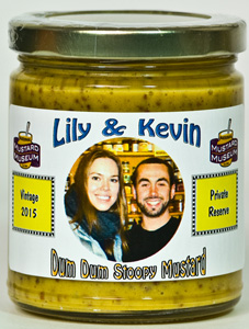 Personalized Mustard - Sweet-Hot Stone Ground (Glass - 12 jars)