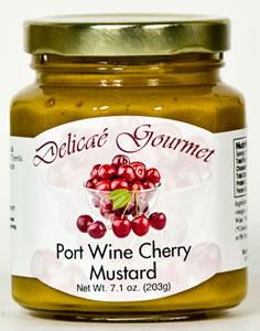 Delicae Gourmet Port Wine Cherry Mustard