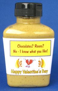 Valentines Day Mustard - Champagne Honey Squeeze