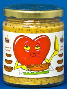 Valentines Day Mustard - Sweet-Hot Stoneground (Glass)