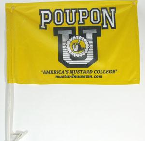 POUPON U Car Window Flag