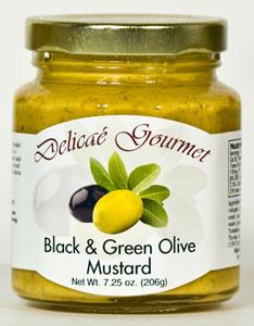 Delicae Gourmet Black & Green Olive Mustard