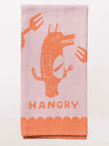 Blue Q Hangry Woven Dish Towel