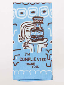 Blue Q I'm Complicated Thank You. Dish Towel