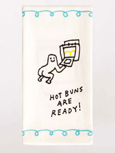 Blue Q Hot Buns Are Ready Dish Towel