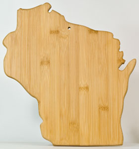 Totally Bamboo Wisconsin Shaped Cutting Board