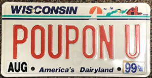 POUPON U License Plate