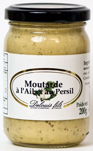 Delouis fils Mustard with Garlic and Parsley