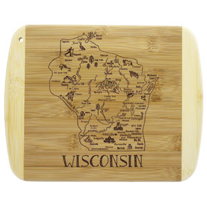 Totally Bamboo A Slice of Life Wisconsin Cutting Board
