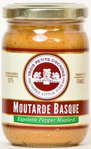 Trois Petits Cochons Moutarde Basque Espelette Pepper Mustard