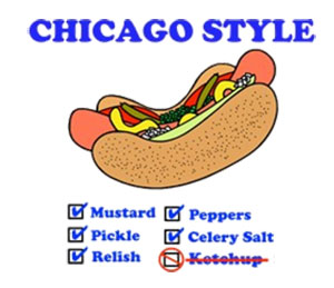 Chicago Style Hot Dog Condiment Survival Kit