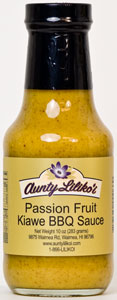 Aunty Lilikoi's Passion Fruit Kiawe BBQ Sauce