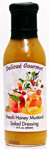 Delicae Gourmet Peach Honey Mustard Salad Dressing