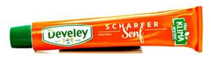 Develey Scharfer Senf Tube
