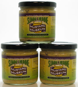 Slimm & Nunne Maple Peppercorn Mustard Three Pack!!