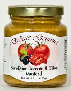 Delicae Gourmet Sun Dried Tomato & Olive Mustard (6.9 Oz)