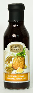 Earth & Vine Pineapple Sake Teriyaki Marinade (12 Oz)