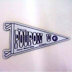 Poupon U Pennant Magnet - 3 1/2
