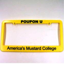 POUPON U License Plate Cover