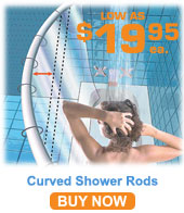 5' Stainless Steel Curved Shower Rod