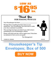 Maids Tip Envelope 500/bx