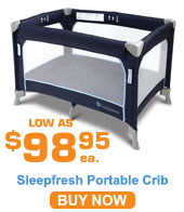 SleepFresh Celebrity Portable Crib; Midnight Blue