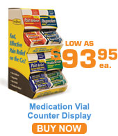 Medication Vial Counter Display and Refills