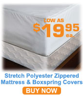 Stretch Polyester Knit Zippered Mattress/Boxspring Covers