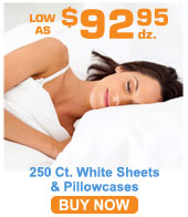 200 ct. White Bed Sheets & Pillowcases