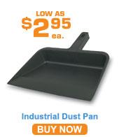 Plastic Dust Pan; Black