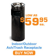 Indoor/Outdoor Ash N' Trash Receptacles
