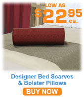 Designer Series Bed Scarves & Bolster Pillows