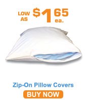 Zip-on Pillow Covers 50% Poly / 50% Cotton