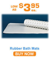 White Rubber Bath Mat 14