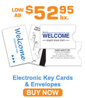 Generic Electronic Key Cards & Envelopes