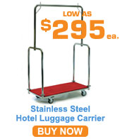 Bright Stainless Steel Luggage Carrier