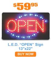 L.E.D. Open Sign 13