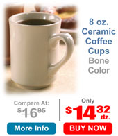 8 oz. Ceramic Coffee Cups