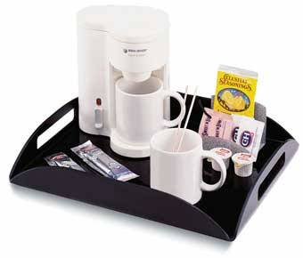 Coffee Amenity Tray- Black