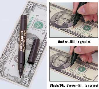 Counterfeit Detector Pen 3/pk