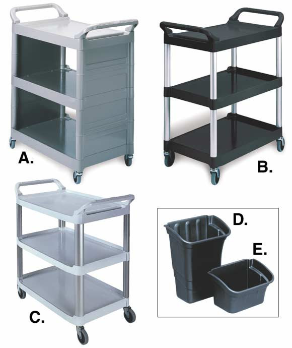 Rubbermaid Bussing/Utility Carts