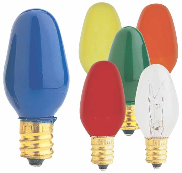 7 Watt Christmas Bulbs; 25/pk