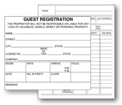 Custom imprint two part carbonless hotel registration cards 2 sided registration card 475 altavistaventures