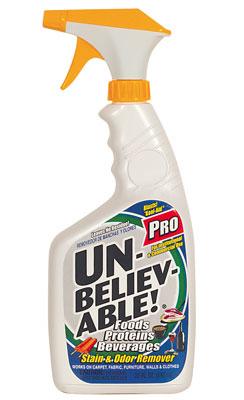 Unbelievable Stain/Odor Remover; 12/cs.
