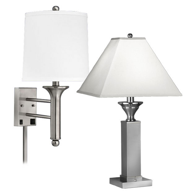 Brushed Steel Lamps